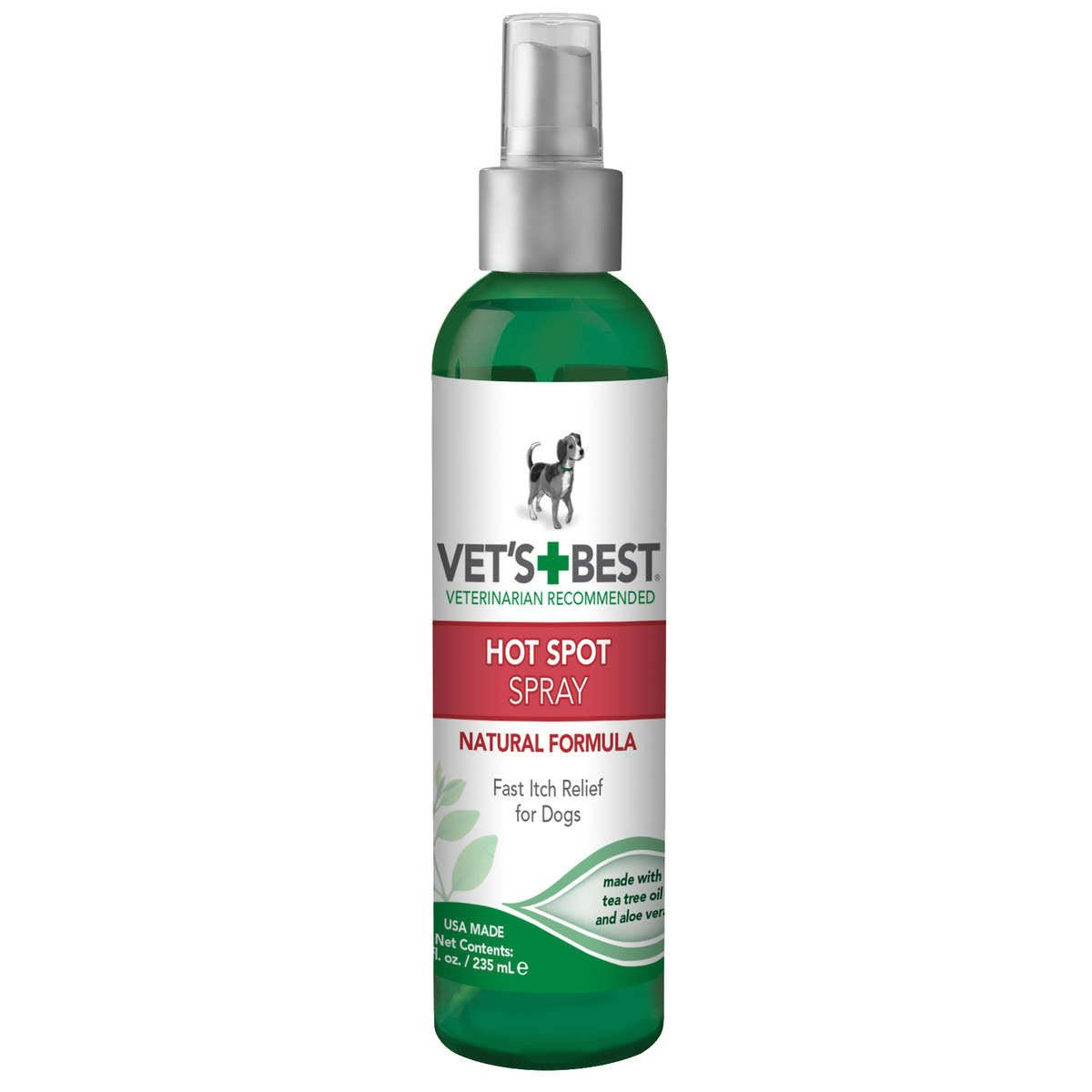Vet's Best Hot Spot Spray - Tea Tree Oil & Aloe Vera, 8oz