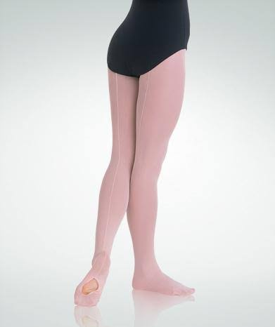Body Wrappers C31 Girls Ballet Convertible Tights - Pink, Small and Medium