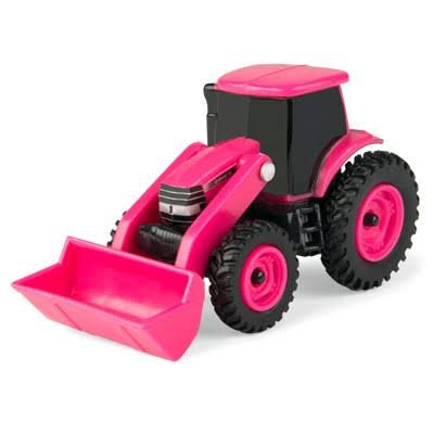 Tomy 1:64 Scale Case IH Pink Tractor with Loader