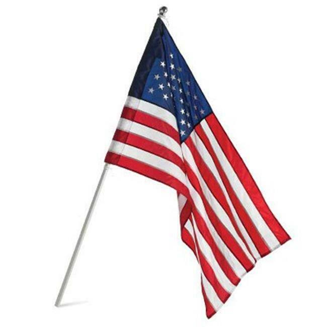 Annin American Nylon Us Banner and Flag Pole - 2.5' x 4'