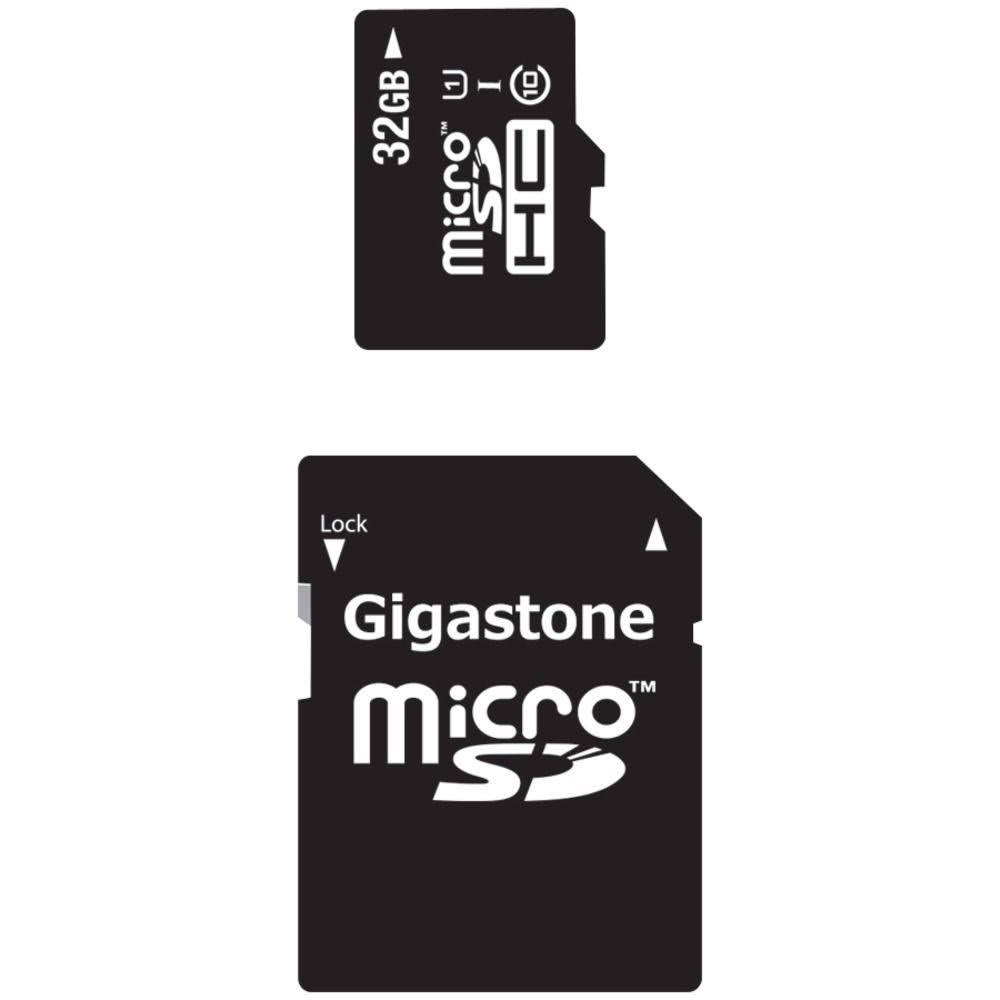 Gigastone Micro Sdhc Memory Card With Sd Adapter - 32GB