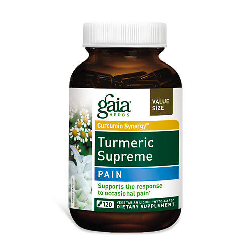 Gaia Herbs Turmeric Supreme Pain Dietary Supplement - 120 Capsules