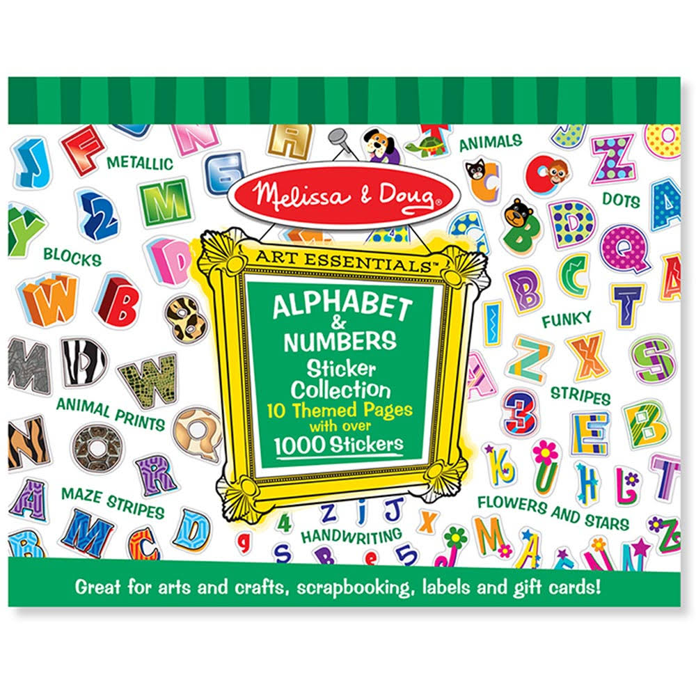 Melissa & Doug Alphabet & Numbers Sticker Collection