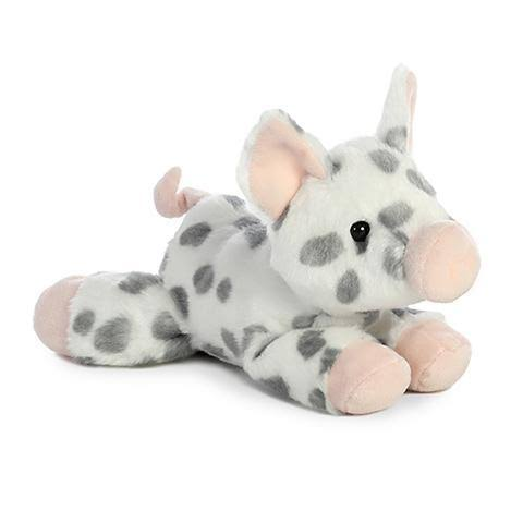 Aurora World 8-Inch Spotted Piglet Mini Flopsie Plush