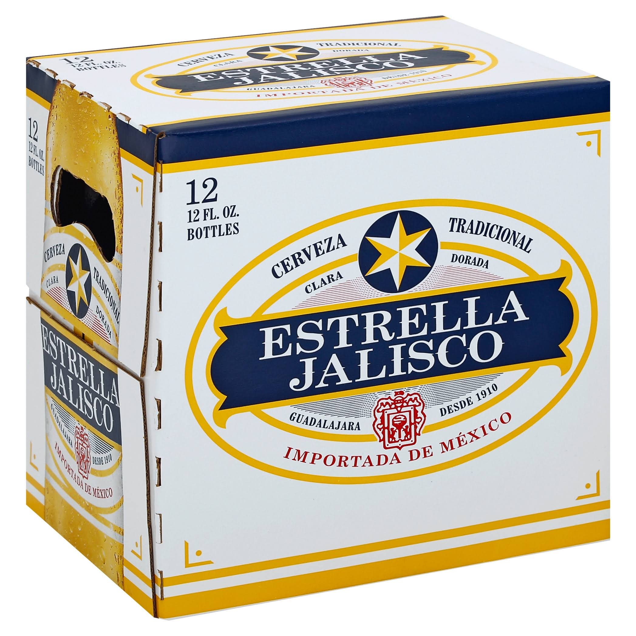Estrella Jalisco Beer - 12 pack, 12 fl oz bottles