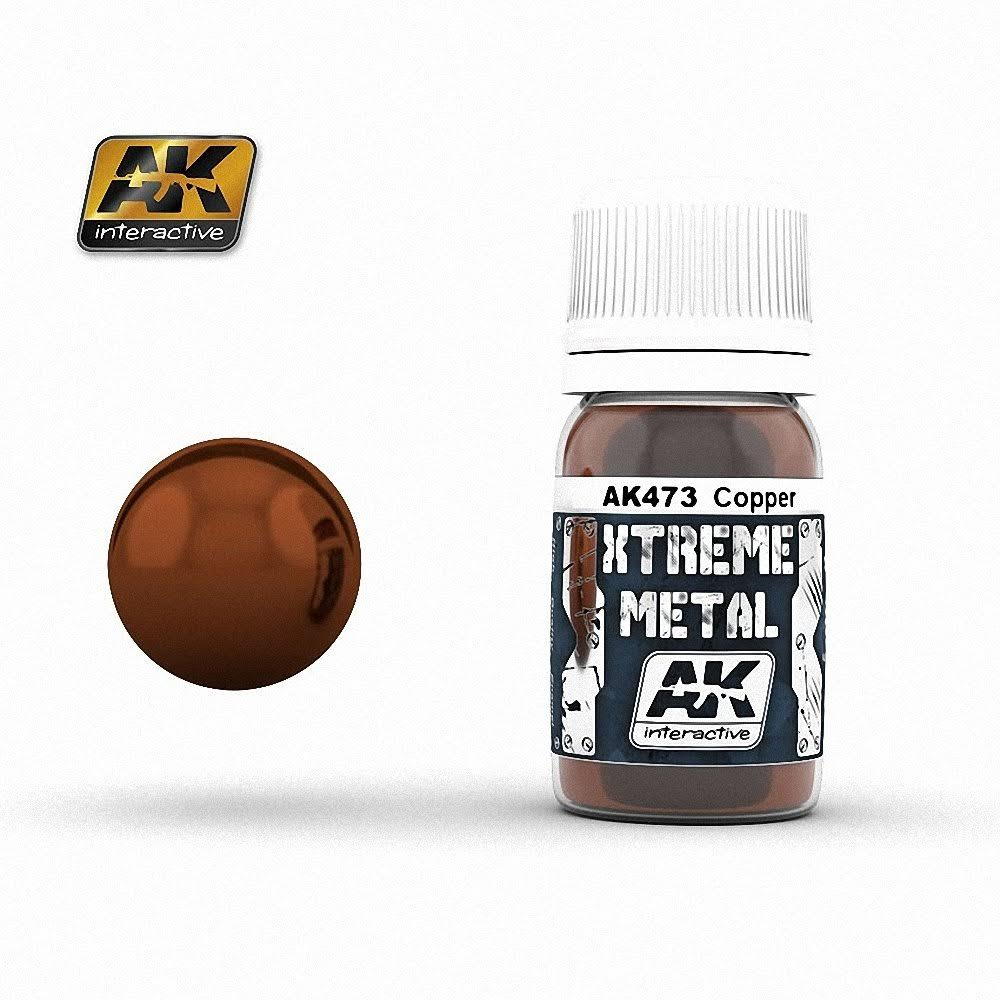 AK Interactive AK-473 Xtreme Metal Copper 30ml Enamel