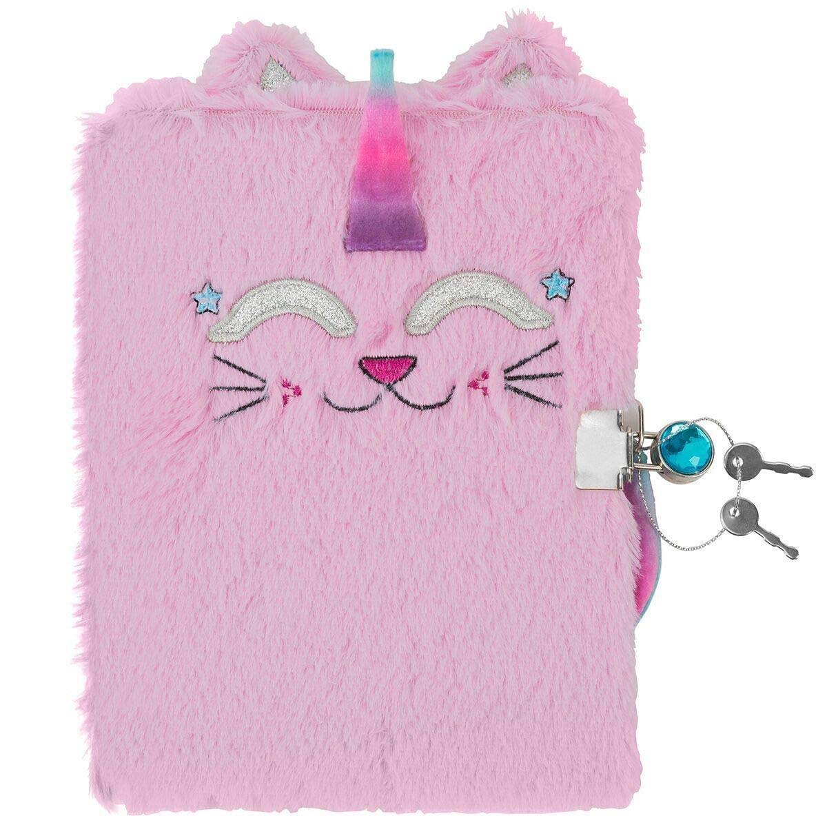 3C4G Caticorn Plush Childrens Journal with Sparkling