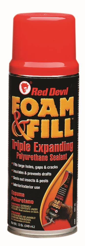 Red Devil Foam & Fill Triple Expanding Polyurethane Sealant - 12 Oz
