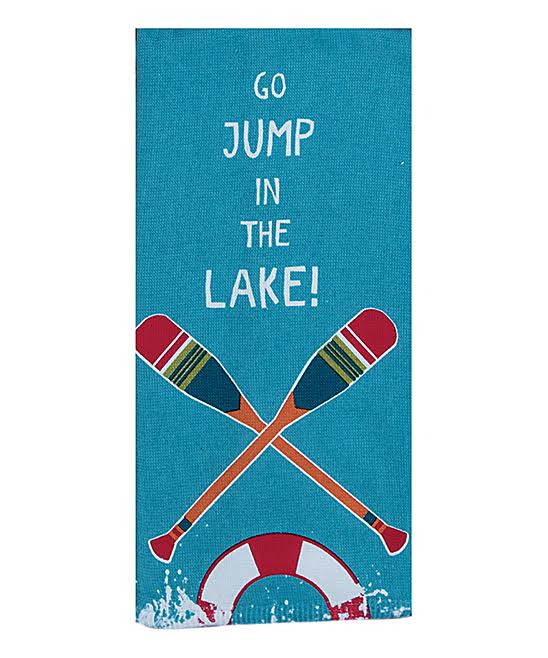 Kay Dee Designs Dish Towels - Blue ' Go Jump in The Lake' Dish Towel - Set of Two