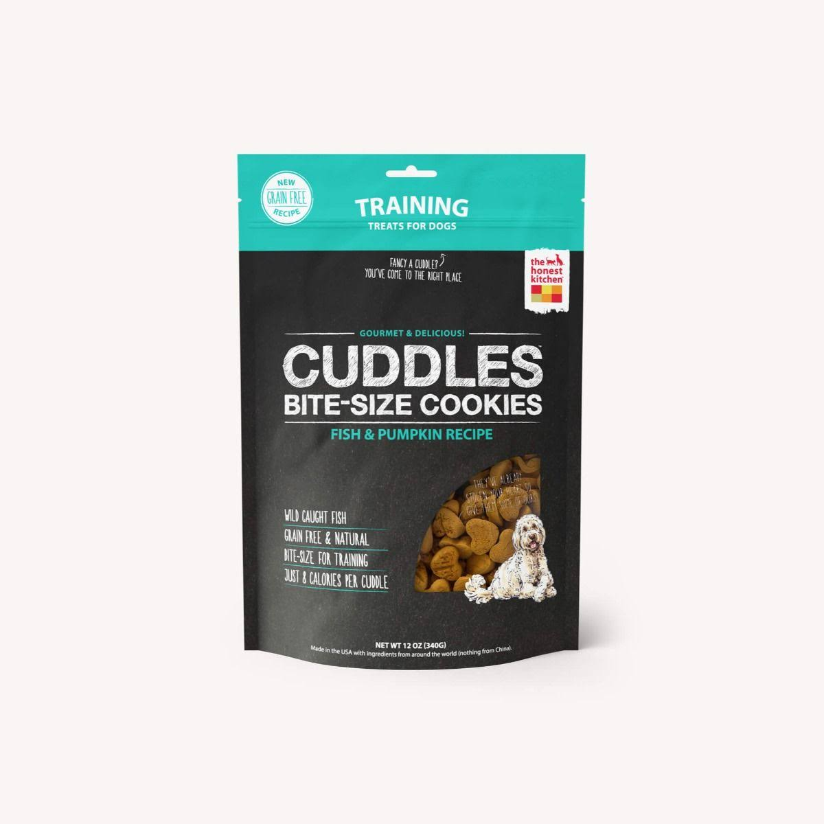 The Honest Kitchen Cuddles Grain Free Fish & Pumpkin Dog Treats - 12 oz.