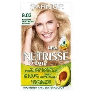 Garnier Nutrisse Permanent Hair Dye - 9.03 Light Beige Blonde