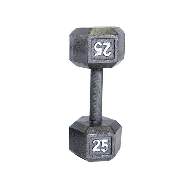 Cap Barbell Solid Hex Dumbbell - Single, 25lb