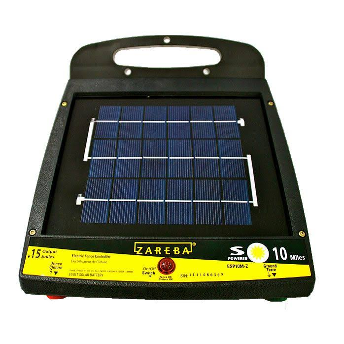 Zareba 10-Mile Solar Low Impedance Electric Fence Charger