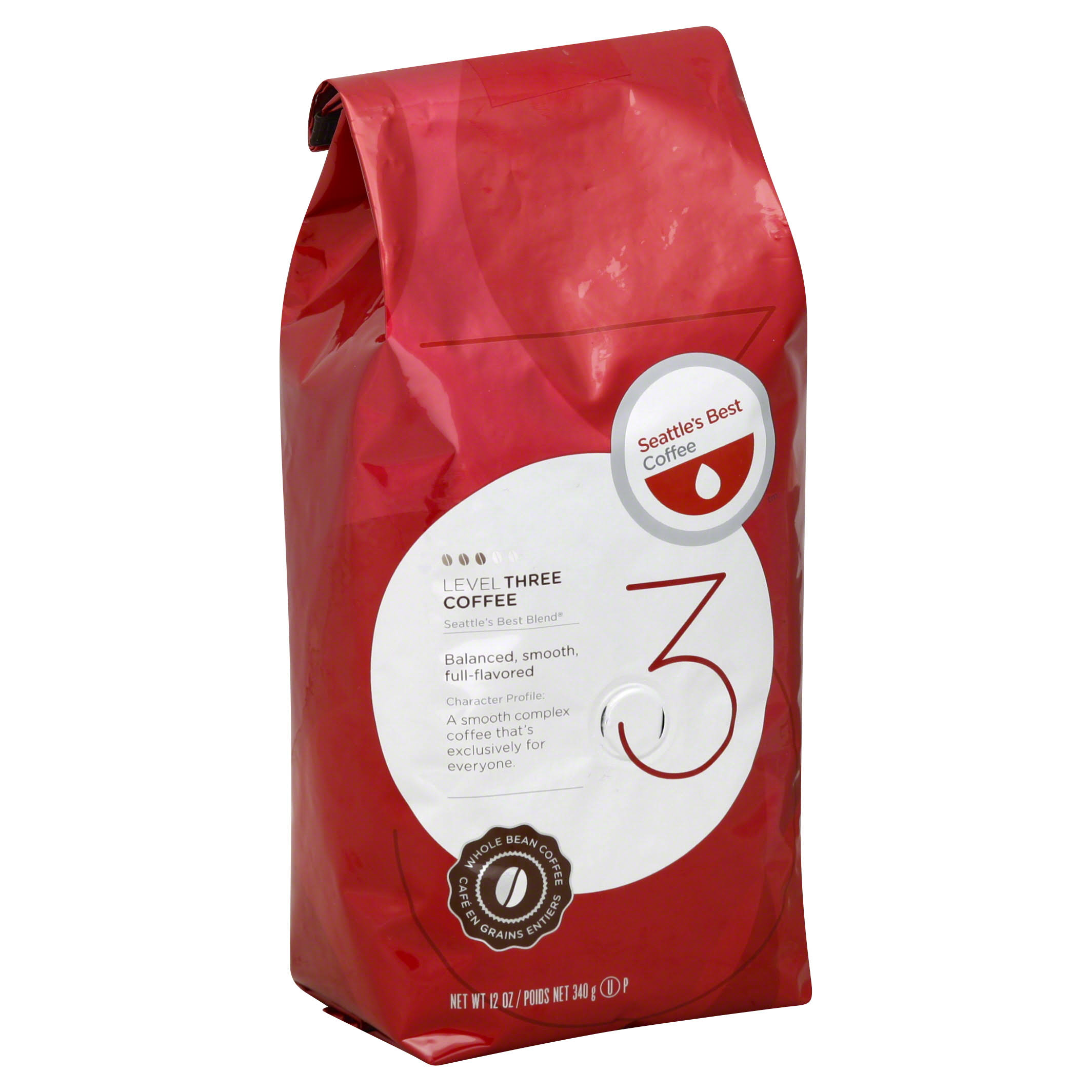 Seattle's Best Coffee Portside Blend Coffee - Medium Roast Whole Bean Coffee, 12oz