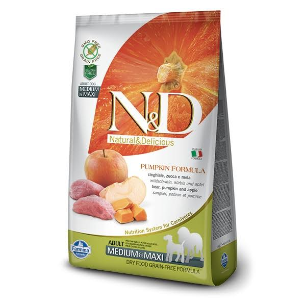 N&D GF Pumpkin DOG Adult Food - Boar & Apple, 2,5kg