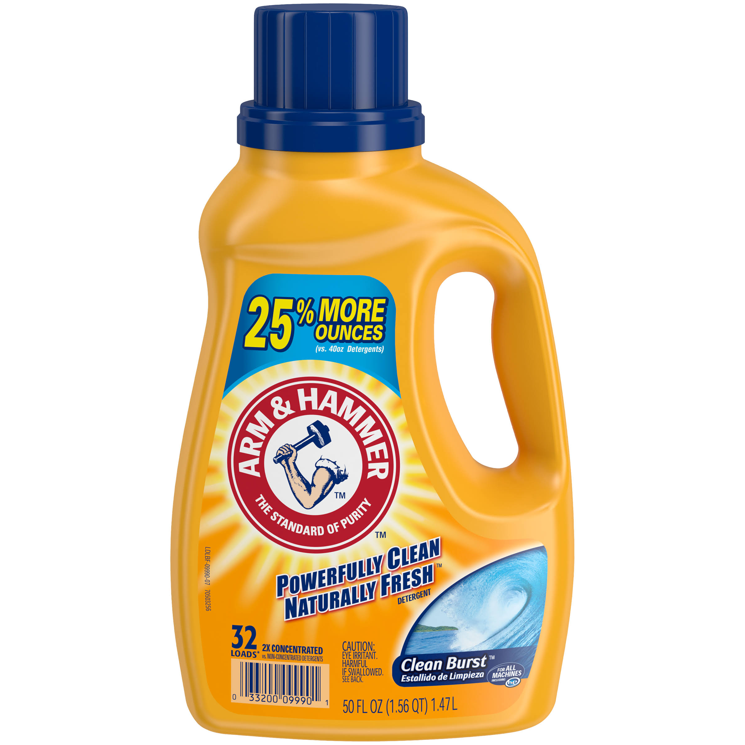Arm and Hammer Clean Burst Liquid Laundry Detergent - 50oz