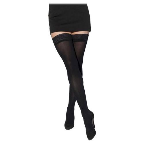 Sigvaris Soft Opaque Women's 15-20 mmHg Thigh High ml / Black