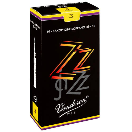 Vandoren SR403 Soprano Sax ZZ Reeds Strength - #3, Box of 10