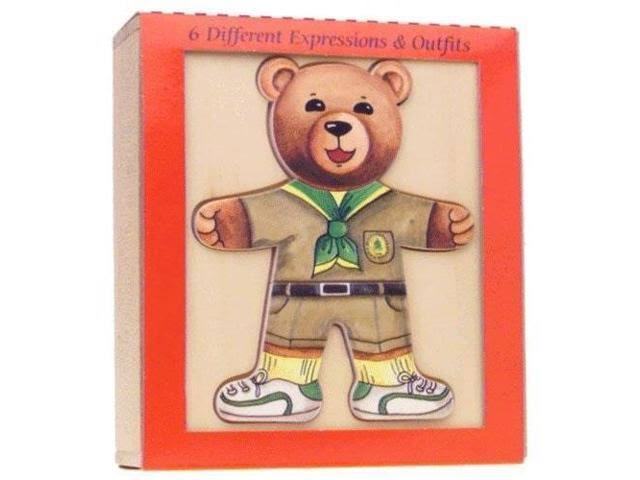 Schylling Ernest Moody Bear Puzzle - 18pcs