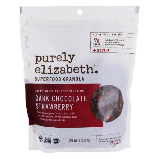 Purely Elizabeth Granola, Superfood, Dark Chocolate Strawberry - 8 oz