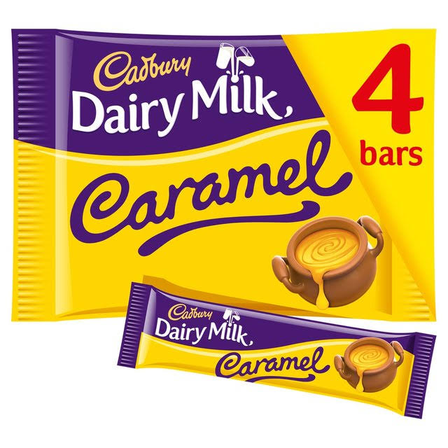 Cadbury Dairy Milk Caramel Chocolate Bar - 4 Pack