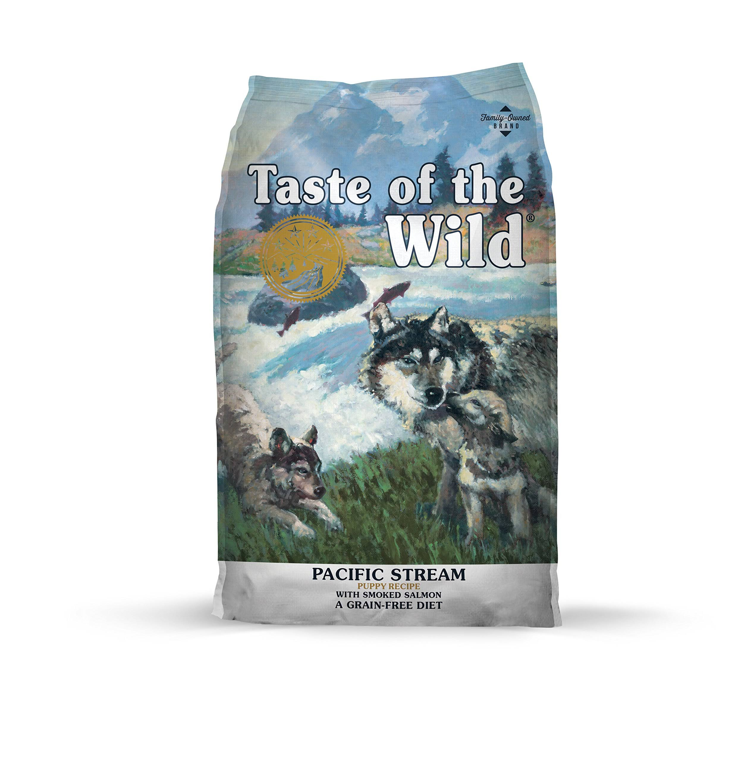 Taste of The Wild Pacific Stream Puppy Formula Grain Dry Dog Foods Bag - 28lb