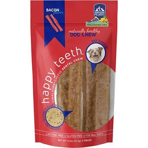 Himalayan Pet Happy Teeth Himalayan Cheese Dental Chew - Bacon 2 Pieces