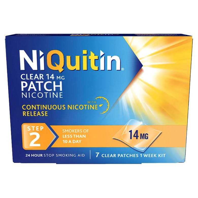 NiQuitin Nicotine Step 2 Clear Patch - 14mg, 7 Patches