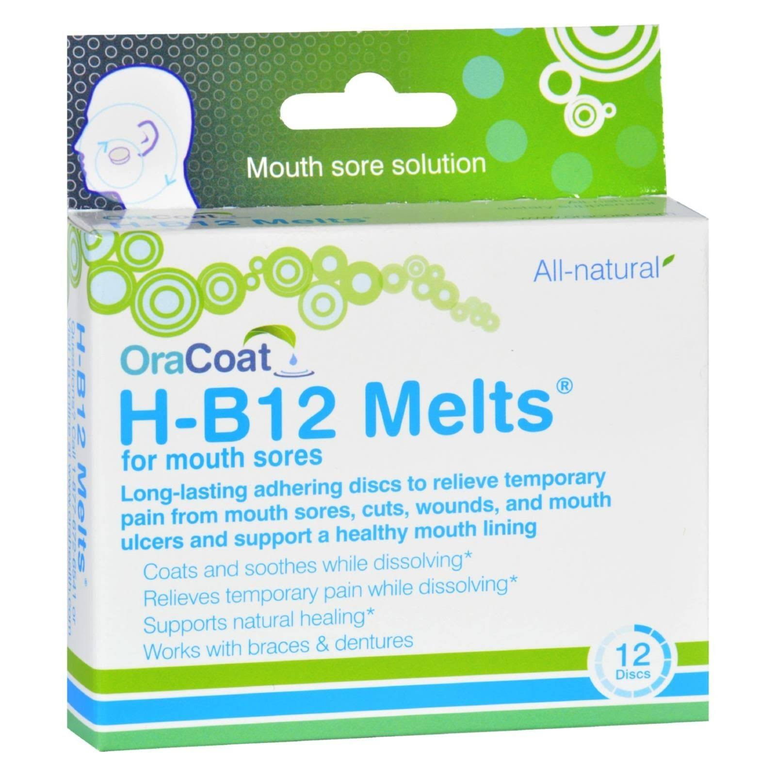 Oracoat H B12 Melts Mouth Sores - 12ct