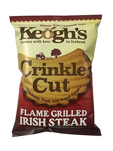 Keogh's Crinkle Cut Potato Crisps - Flame Grilled Irish Steak, 50g