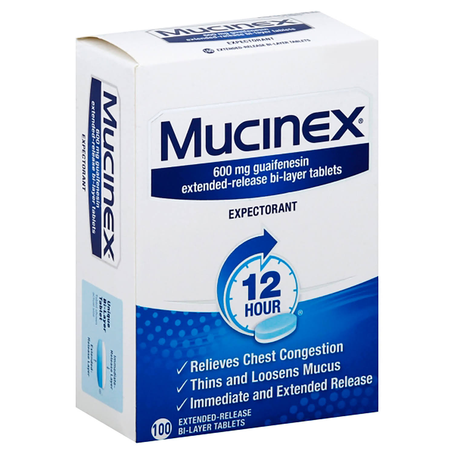 Mucinex Expectorant - 600mg, 100ct