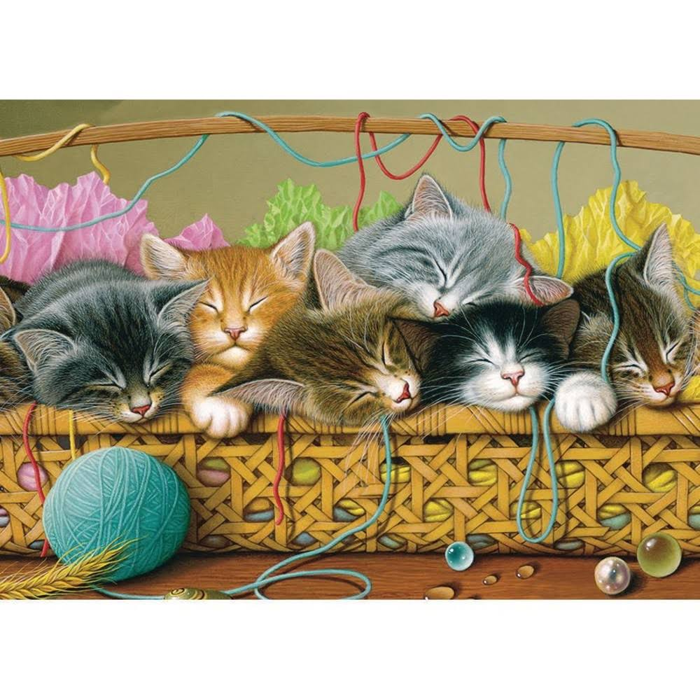 Cobble Hill Kittens in A Basket 35-Pc. Tray Puzzle