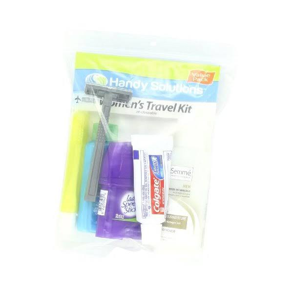Handy Solutions Travel Kit Women's TSA Approved, Pack of 2