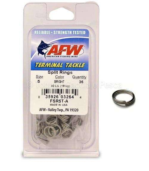 American Fishing Wire SS Split Ring - FSR5T-A