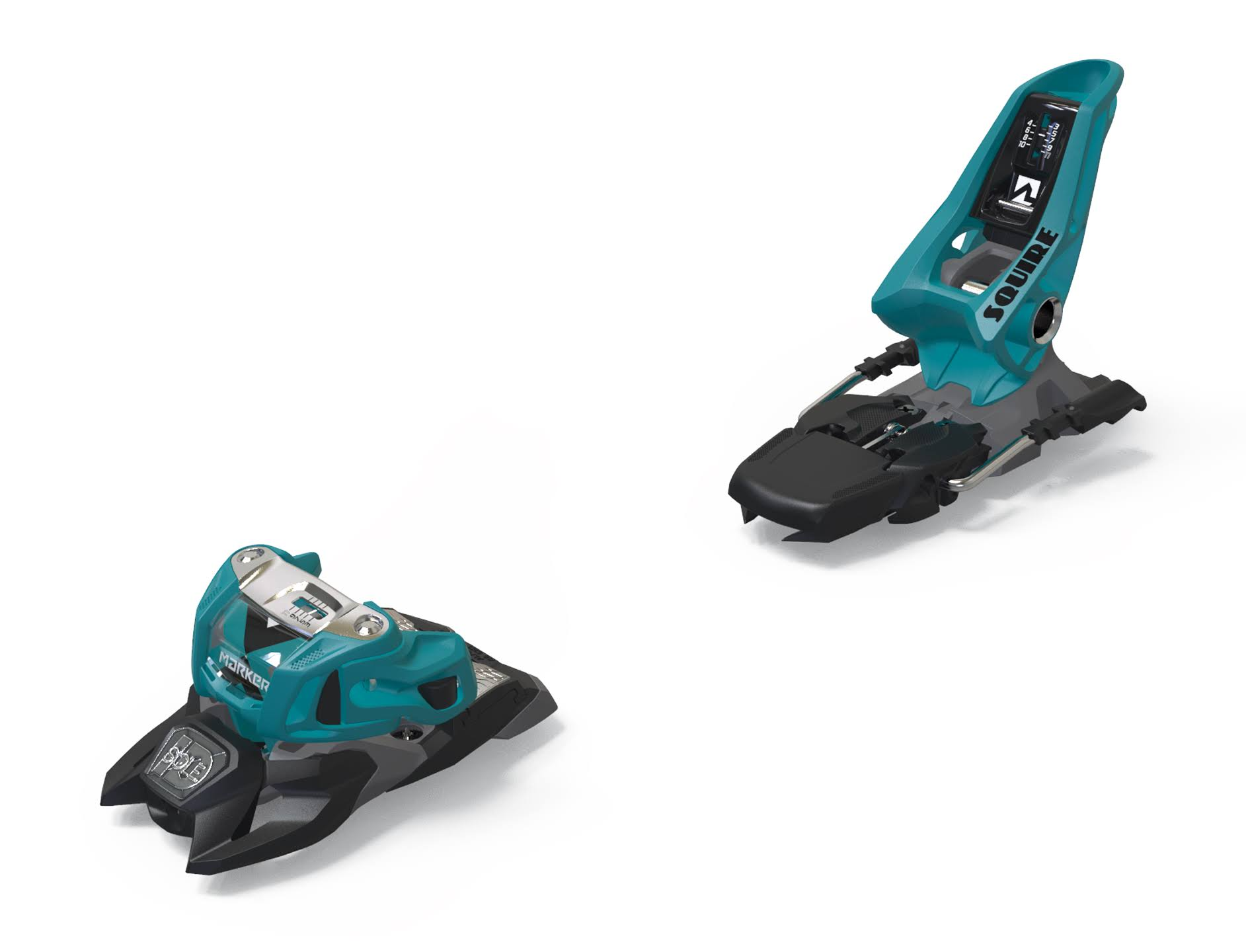 Marker Squire 11 ID Ski Bindings 2020 (Teal/Black, 110mm)