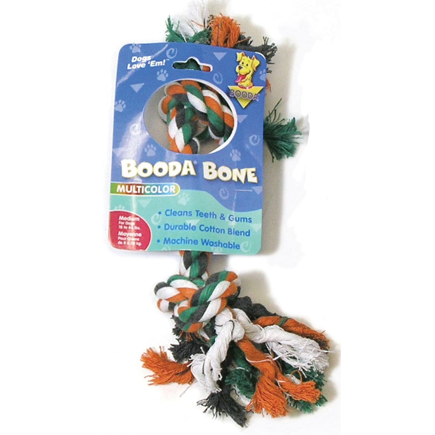 Booda Medium 2-knot Multi-color Rope Bone Dog Toy