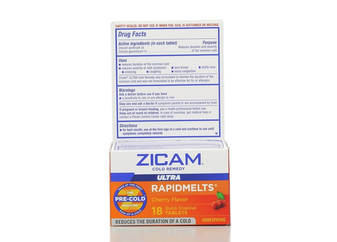 Zicam Ultra Cold Remedy Tablets - Cherry, x18