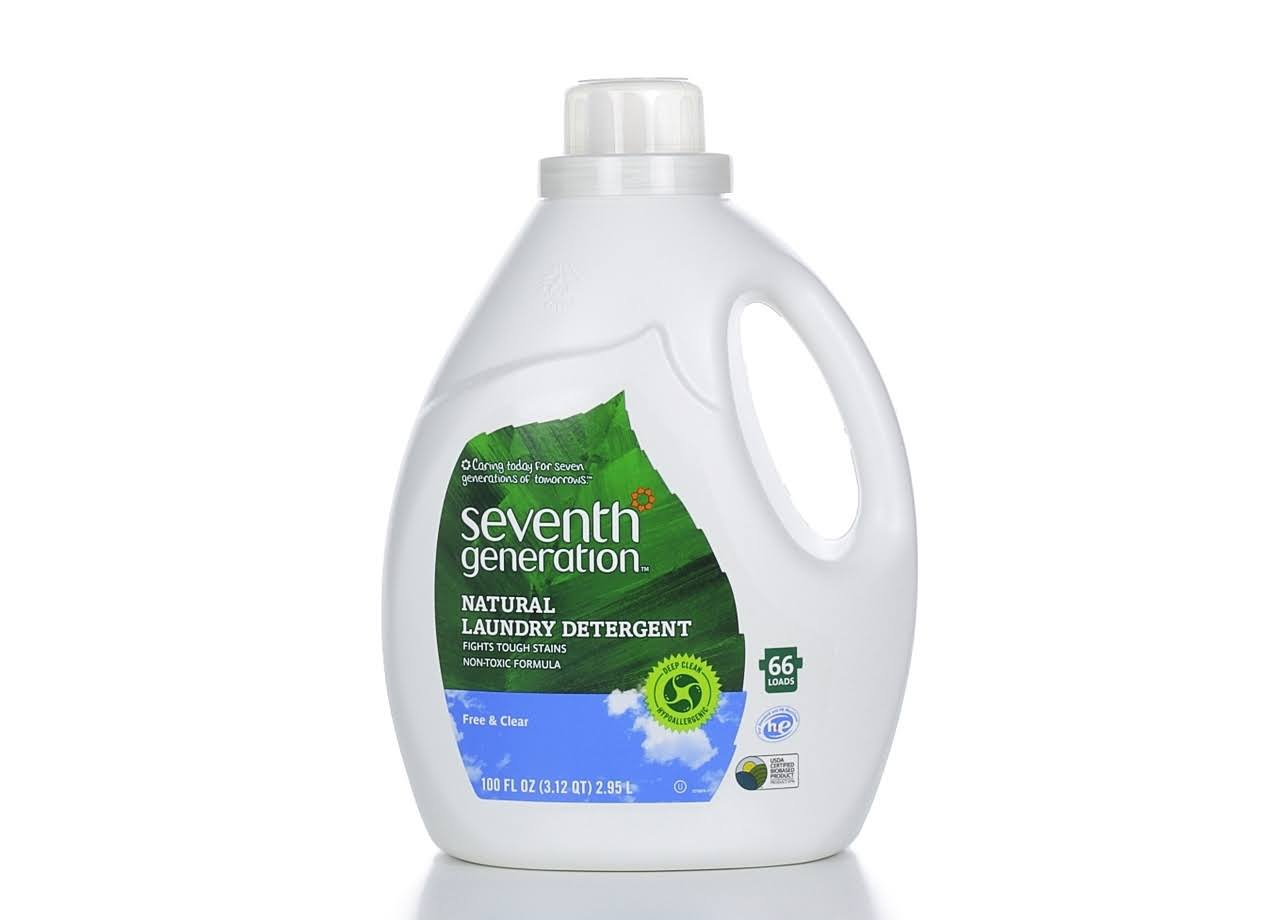 Seventh Generation HE Natural Liquid Laundry Detergent, Free & Clear, 66 Loads - 100 fl oz jug