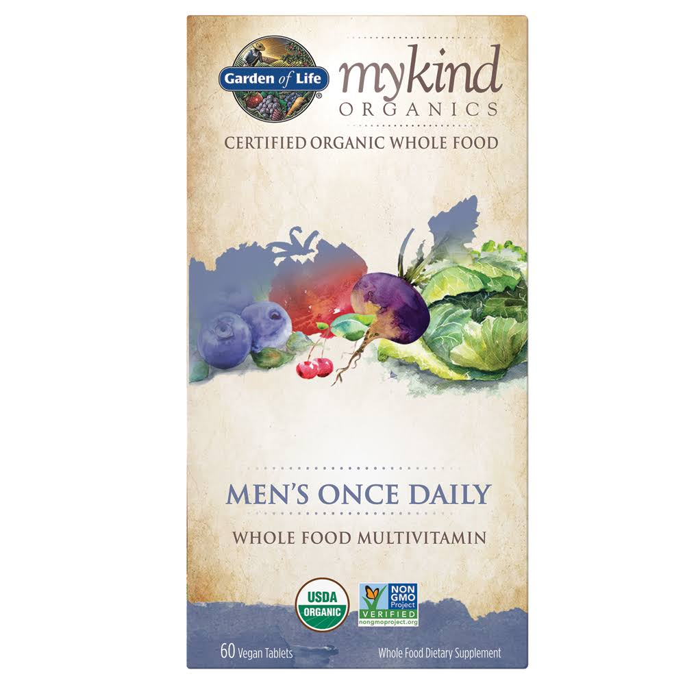 Garden of Life Kind Organics Men´s Once Daily Multivitamin - 60 Tablets