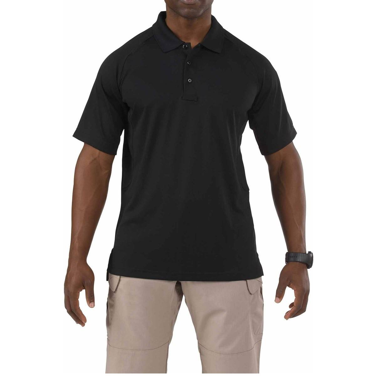 5.11 Tactical #71049 Performance Polo Short Sleeve Shirt - Black, Large