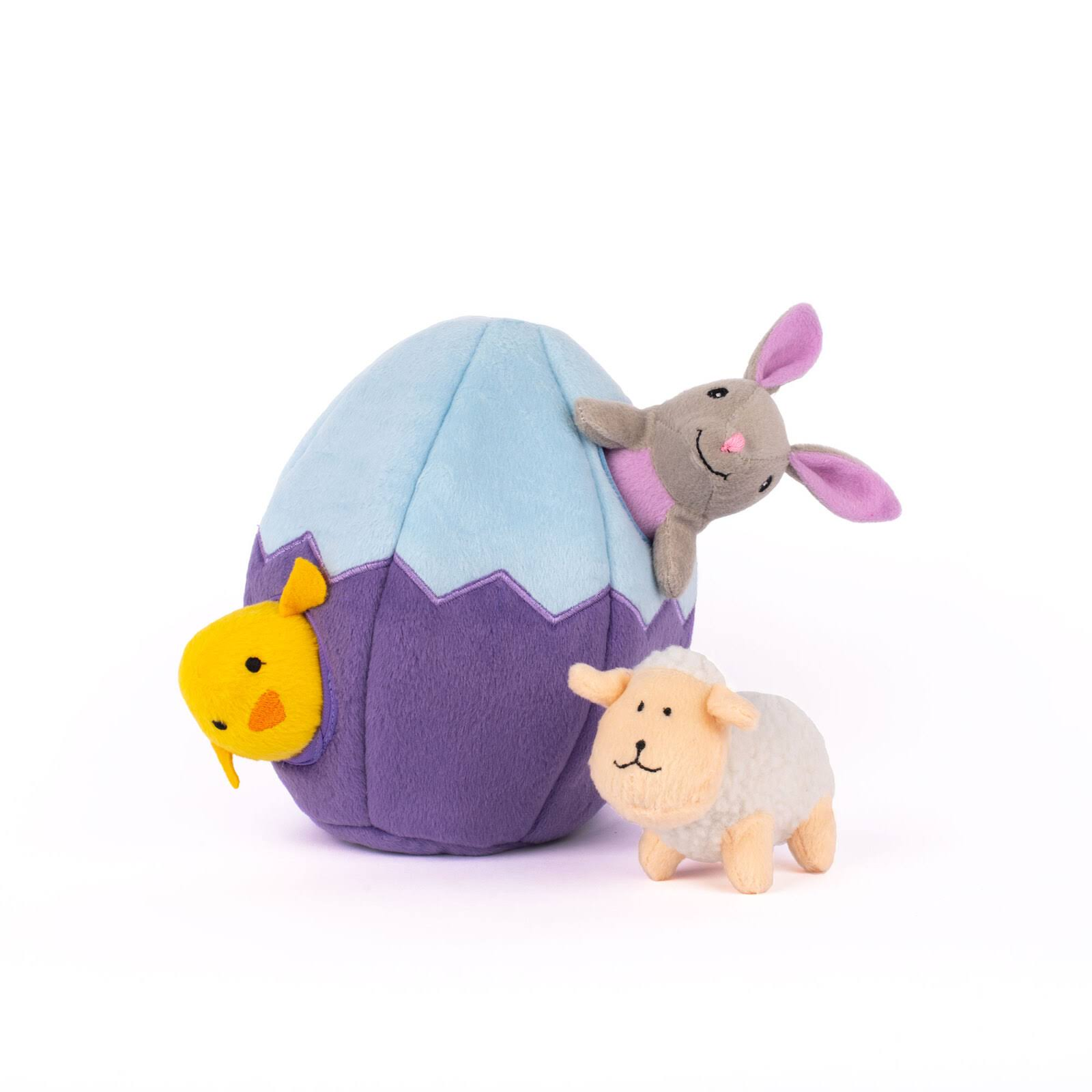 ZippyPaws Zippy Burrow Hide & Seek Easter Egg and Friends Dog Toy