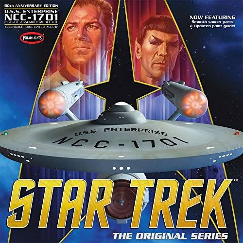 Polar Lights Star Trek the Original Series Enterprise 50th Anniversary Edition Model Kit - Scale 1:350