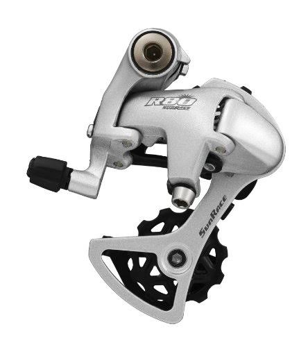 Sunrace RDR81 Short Cage Bike Derailleur - with Bolt, Silver, 8 Speed