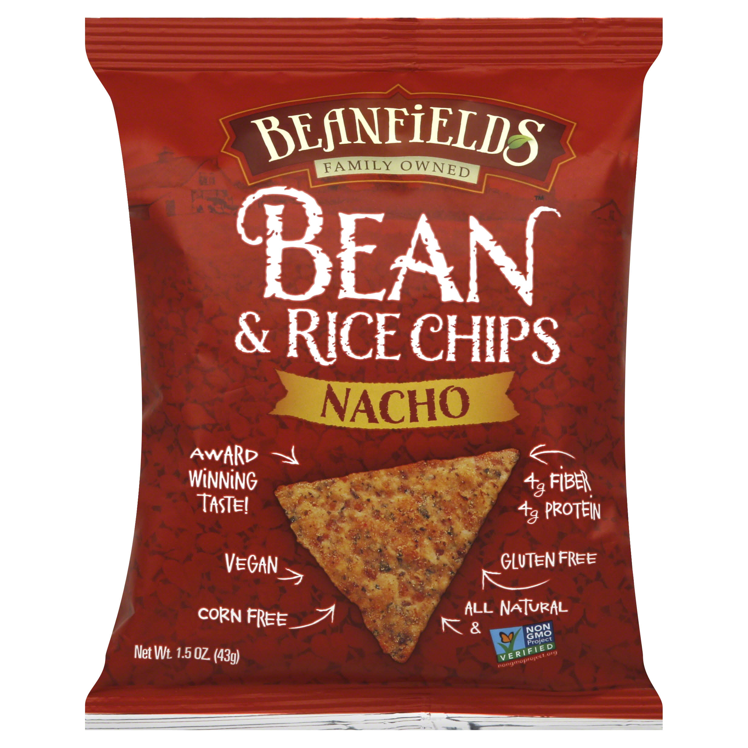 Beanfields Nacho Bean and Rice Chips - 1.5oz