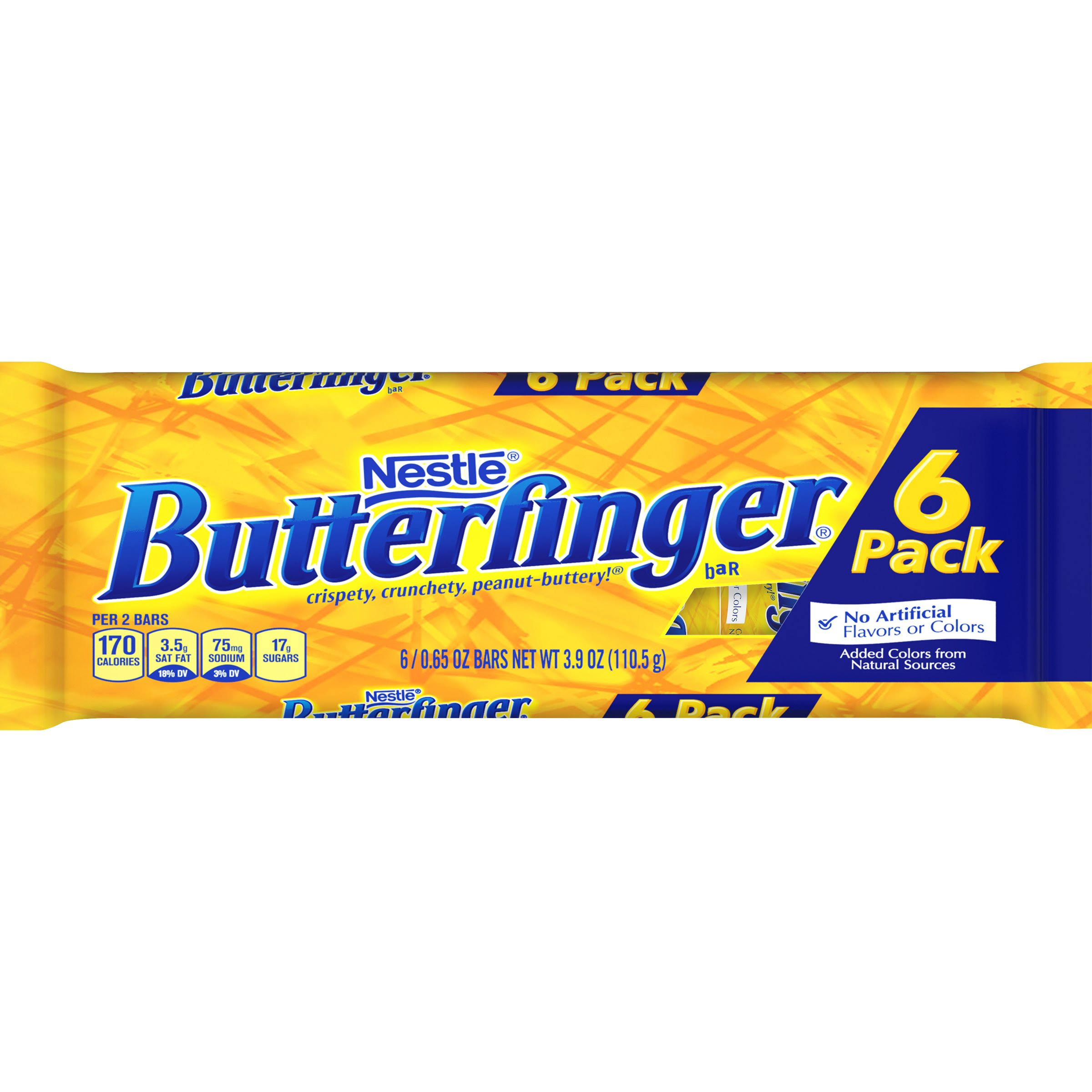 Butterfinger Fun Size Chocolate Candy Bars, 0.65oz, 6 Count