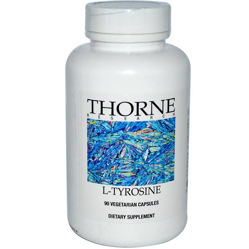 Thorne Research L-Tyrosine Dietary Supplement - 500mg, 90 Vegetarian Capsules