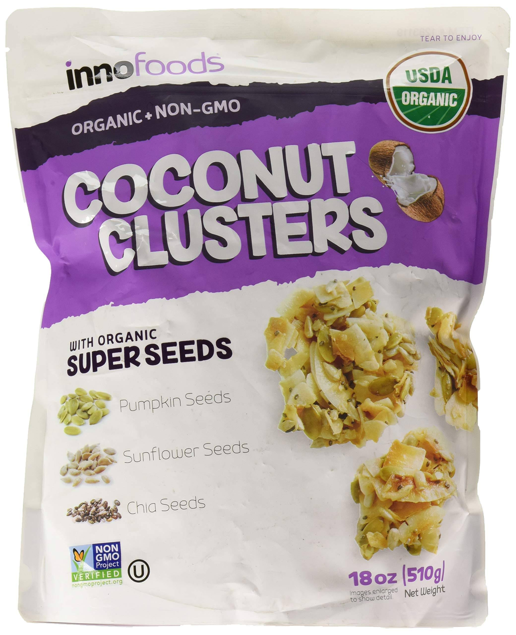 INNO Foods Organic Coconut Clusters with Super Seeds, 18 oz