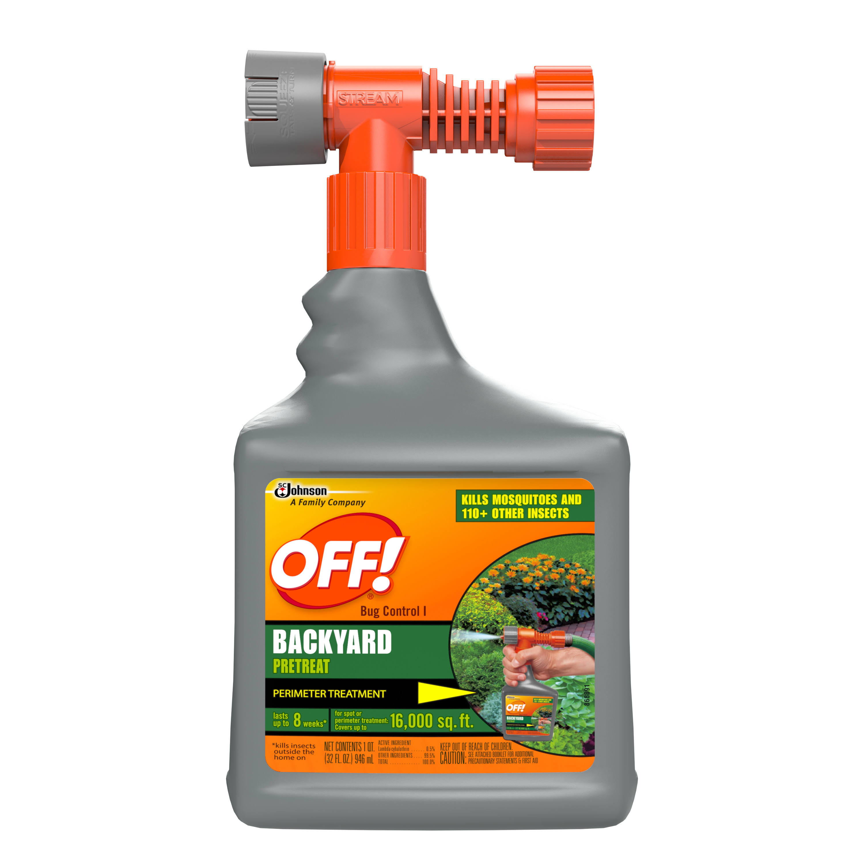 Off! Backyard Pretreat Perimeter Protection Insect Killer - 32oz