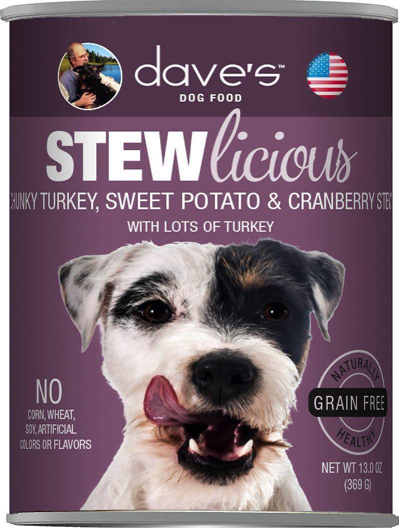 Chunky Turkey, Sweet Potato & Cranberry Stew Canned Dog Food 13 oz