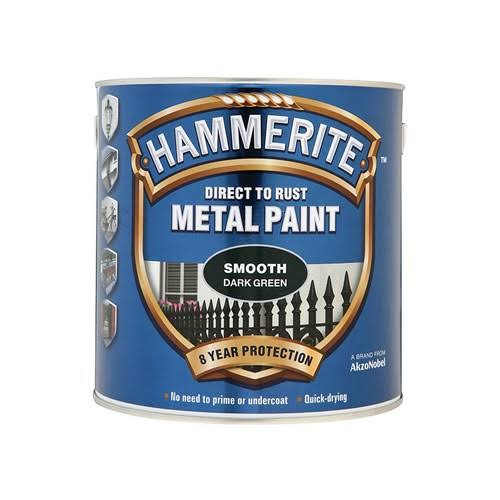 Hammerite Direct to Rust Metal Paint - Smooth Dark Green, 750ml